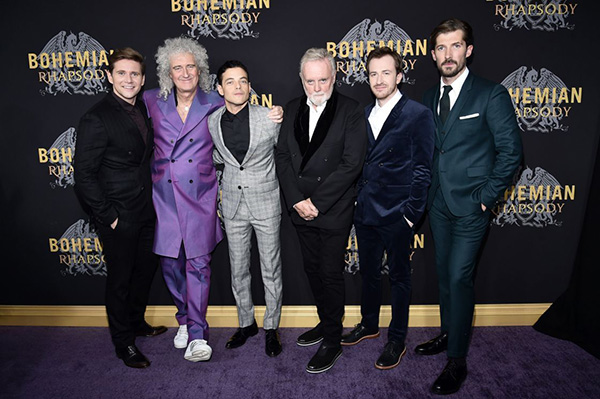 """Bajo el nombre Queen + Adam Lambert, esa actuación tiene el propósito de promocionar la cinta nominada a Mejor Película """"Bohemian Rhapsody"""". FOTO: AFP"""