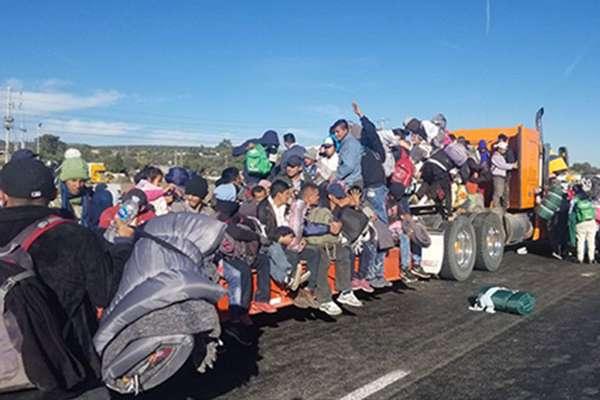 Diversas caravanas de migrantes han pasado por territorio mexicano rumbo a Estados Unidos. FOTO: NOTIMEX