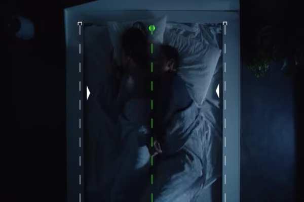 La cama utiliza sensoresde presión para identificar cuando alguien se ha desviado de su lado. Foto: Especial
