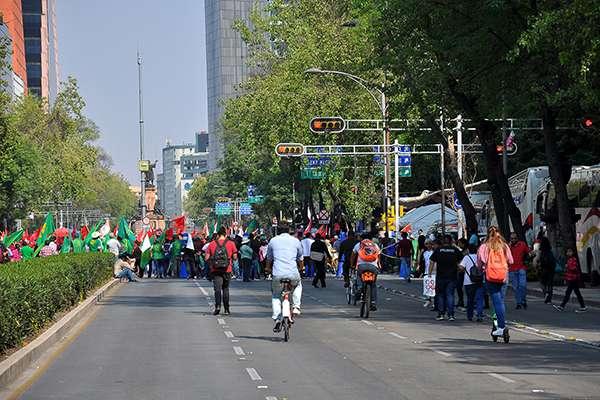 Al menos dos concentraciones y una rodada podrían afectar las vialidades de las alcaldías Cuauhtémoc y Benito Juárez. FOTO: NOTIMEX