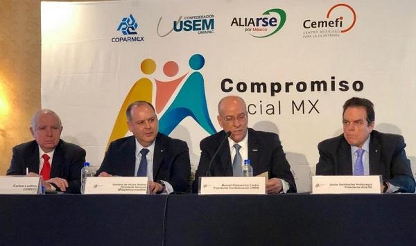 La Declaración del Compromiso Social de los Empresarios incluyó un manifiesto de la voluntad de trabajar por México. Foto: Especial