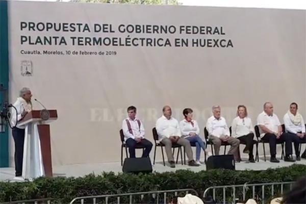 López Obrador presenta propuesta para planta termoeléctrica en Huexca: EN VIVO