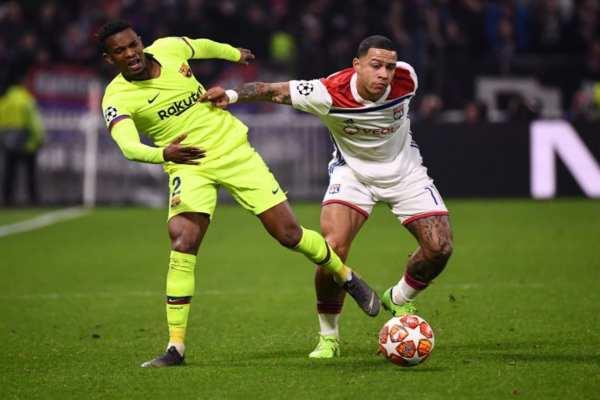 El partido entre el Lyon y el Barcelona terminó en empate a cero. Foto: AFP