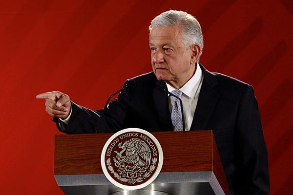 El presidente de México, Andrés Manuel López Obrador en su conferencia matutina en Palacio Nacional. FOTO: NOTIMEX