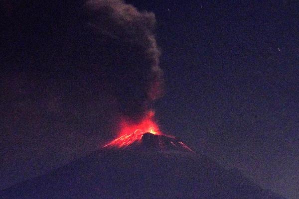 La Alerta Volcánica se mantiene en Amarillo Fase 2. FOTO: ESPECIAL