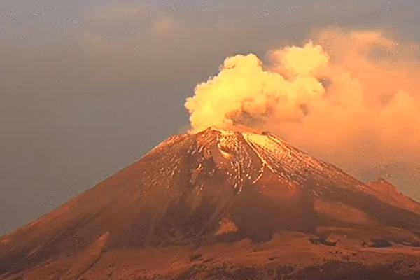 El semáforo de alerta volcánica se mantiene en Amarillo Fase 2. FOTO: ESPECIAL