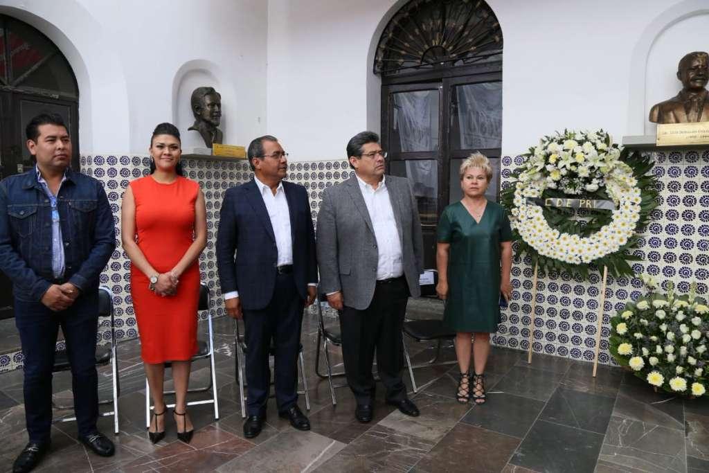 Priistas de Puebla conmemoraron el 25 aniversario luctuoso de Luis Donaldo Colosio. Foto: @MerloIsabel