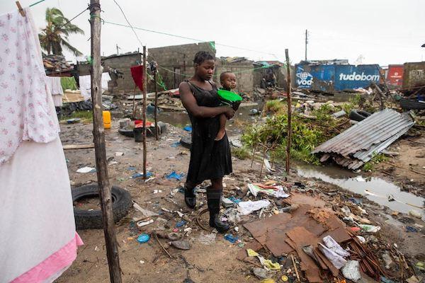La ciudad de Beira fue una de las más afectadas por el meteoro. Foto: @unicef_es