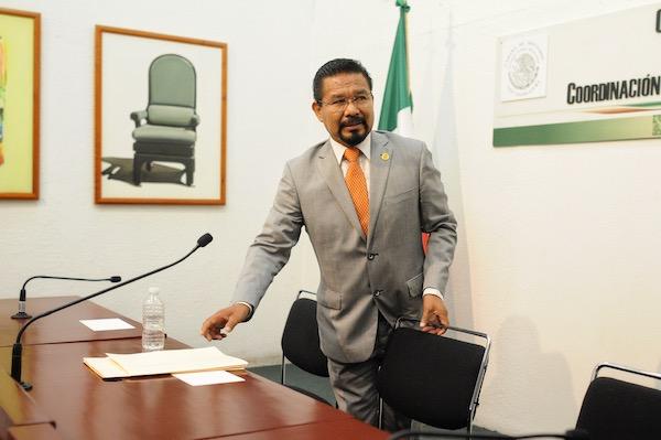 El exalcalde de Ixmiquilpan, Hidalgo, también fue separado de la bancada de Morena en la Cámara de diputados. Foto: Cuartoscuro
