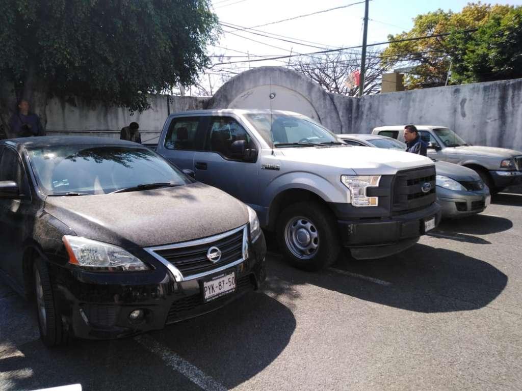 Los vehículos fueron decomisados a funcionarios de la Coprisem