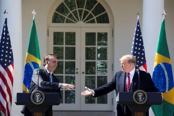 Es el primer encuentro en años entre un mandatario brasileño y uno estadounidense. Foto: EFE