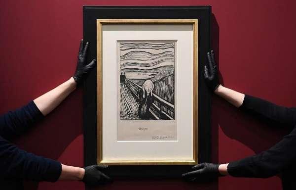 En el Museo Británico de Londres instalaron una exposición con la obra del pintor noruego. Foto: EFE
