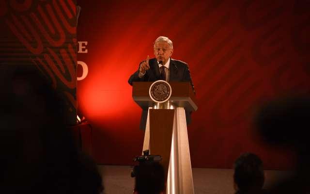 Andrés Manuel López Obrador, presidente de México, durante su conferencia matutina. FOTO: CUARTOSCURO