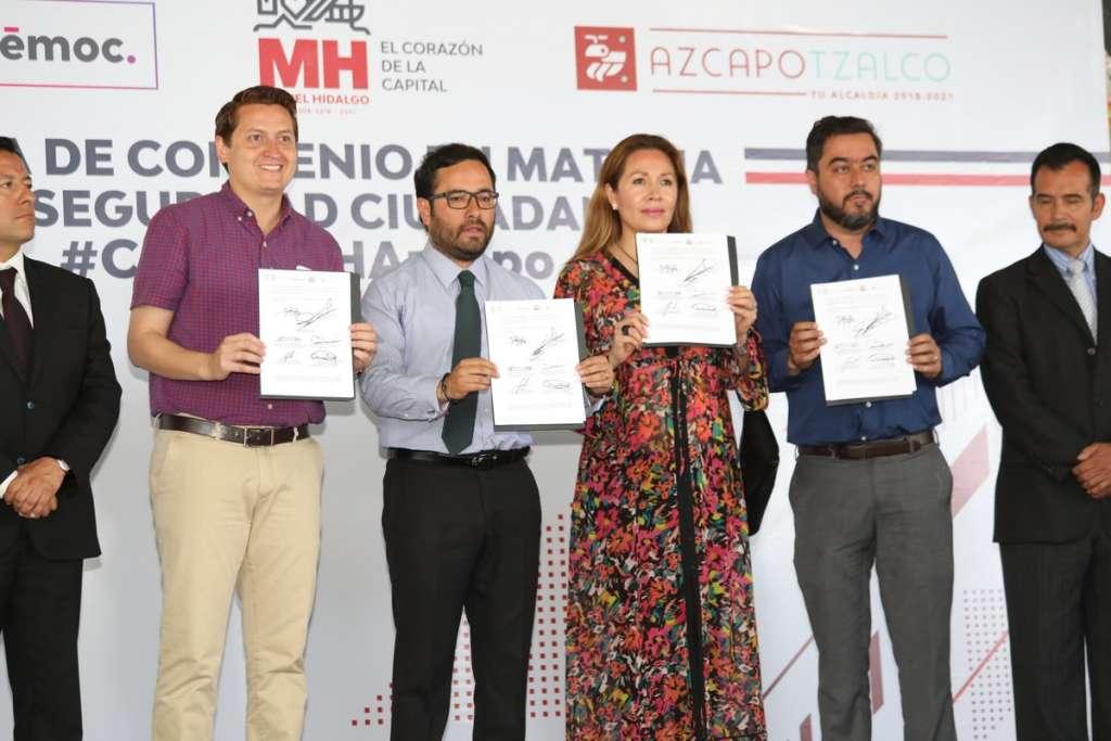 Los mandatarios impulsan el acuerdo en redes con los hashtags #CuauhMHAzcapo #YoTeCuido. Foto: @vromog