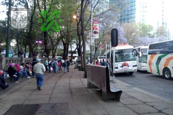 Campesinos partirán a las 8 de la mañana del Ángel hacia Segob, tomarán Paseo de la Reforma. Foto: OVIAL
