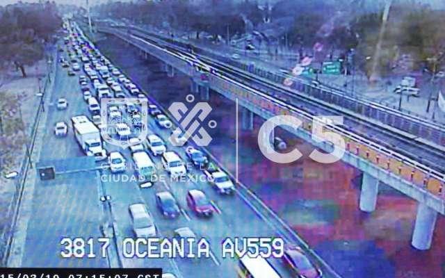 La avenida 602 presenta tránsito pesado desde avenida 412 a Circuito Interior.  Foto: C5