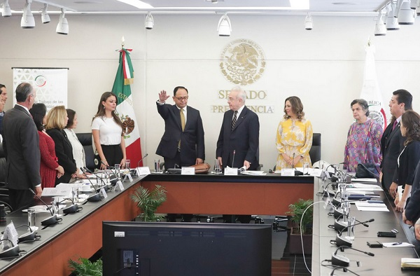 Las comisiones se declararon en sesión permanente a efecto de continuar el lunes con las comparecencias del resto de los cónsules propuestos para distintas localidades de Estados Unidos. Foto: Especial