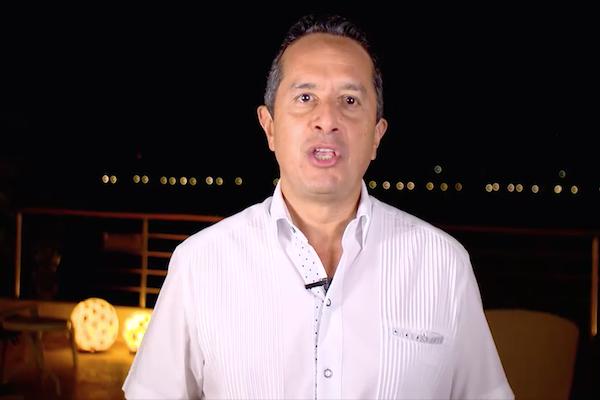 Desde Cozumel, el gobernador envió un mensaje para explicar algunos avances en materia de seguridad. Foto: Especial