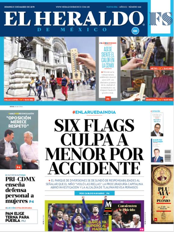 El Heraldo de México 3 de marzo de 2019
