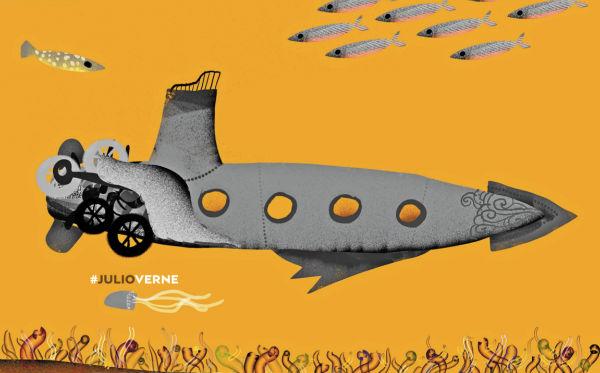 Veinte mil leguas de viaje submarino fue publicado en 1869. Foto: Especial