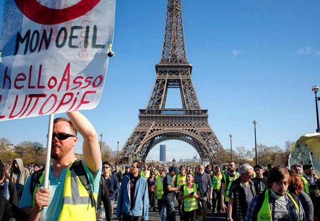 En la capital francesa dos manifestaciones y cuatro concentraciones. FOTO: ESPECIAL