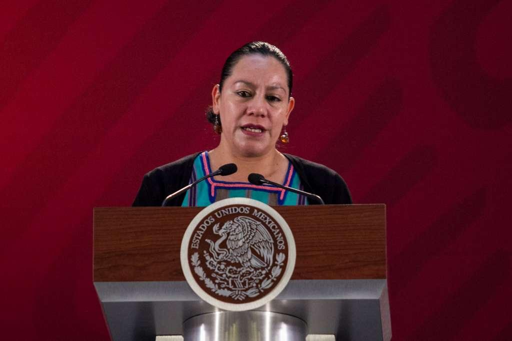 La secretaria de Bienestar acudió a la entrega de apoyos que encabezó el Presidente. FOTO: ARCHIVO/ CUARTOSCURO