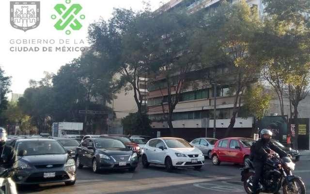 El tránsito en la avenida Cuauthémoc es lento de Xola hacia Eje 6 Sur. Foto: @OVIALCMDX