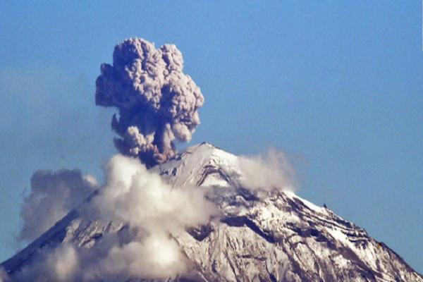 El Semáforo de Alerta Volcánica permanece en Amarillo Fase 2. Foto: Especial