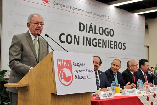 El evento es organizado por el Colegio de Ingenieros Civiles de México. FOTO: ESPECIAL