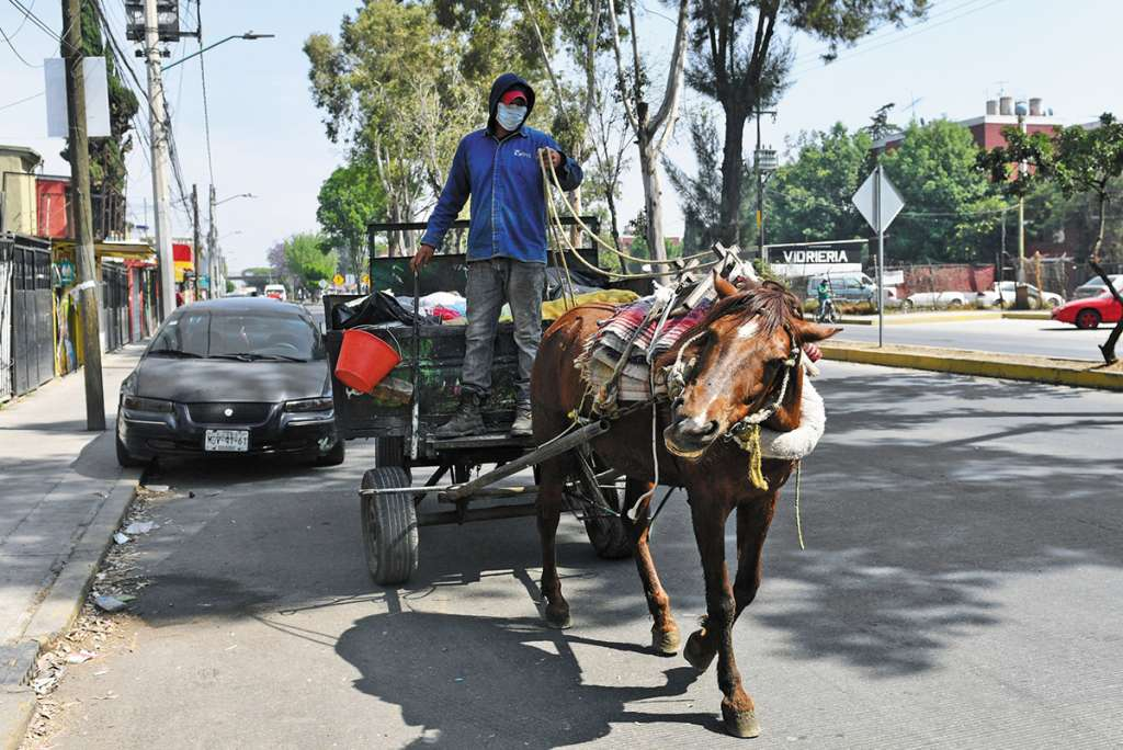 La recolección artesanal es complementaria al servicio municipal con camiones. FOTO:ESPECIAL