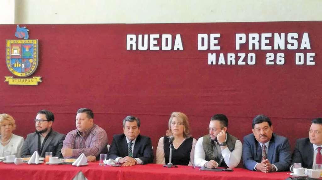 Ediles de municipios del valle de México anunciaron una estrategia anticrimen.FOTO LETICIA RÍOS