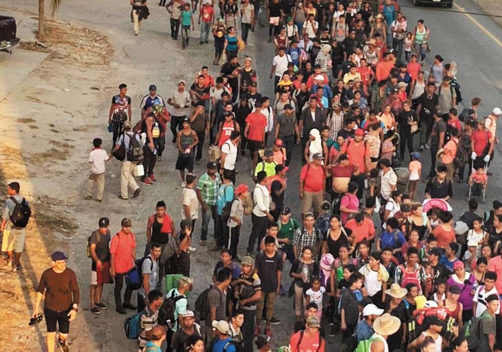 Un grupo más salió desde Chiapas; hay isleños en su mayoría. FOTO: JENY PASCACIO