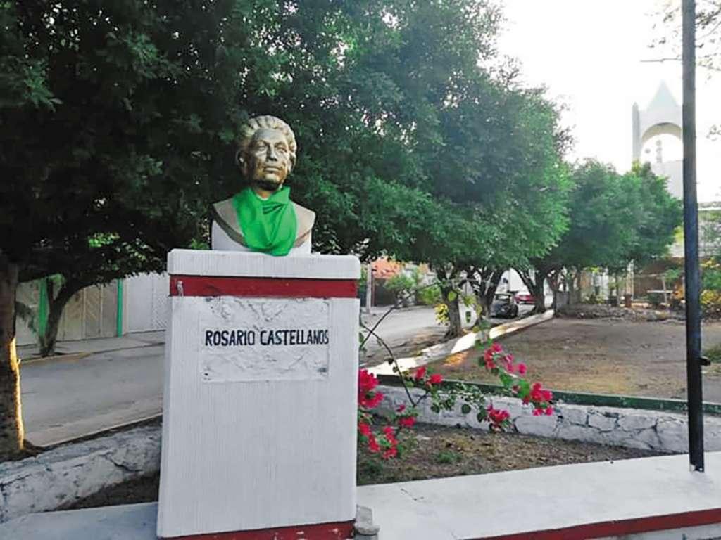 La efigie de Rosario Castellanos, ayer.FOTO: ESPECIAL
