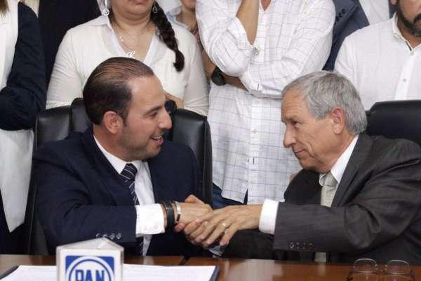 Marko Cortés, presidente del PAN, confió en que la gente votará por su apuesta ciudadana, Enrique Cárdenas. Foto: @PANPUEBLA