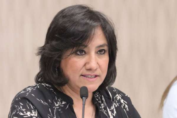 La titular de la SFP asistió a la reunión de la Comisión Anticorrupción. FOTO: CUARTOSCURO