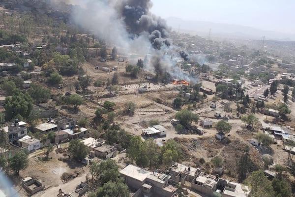 Explosión en Ejido Santa María en Chimalhuacán Foto: @SegChimalhuacan