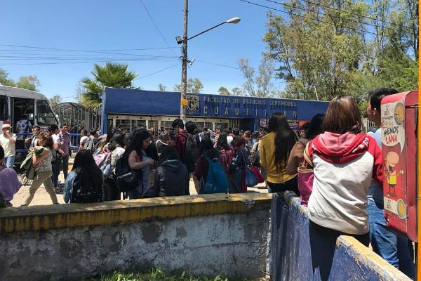 Por amenaza de bomba desalojan la FES Cuautitlán; activan protocolos de seguridad