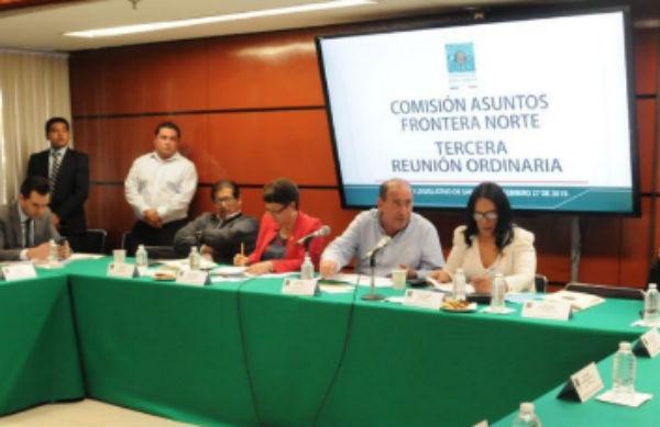En la reunión además se habló sobre las caravanas migrantes. FOTO: ESPECIAL