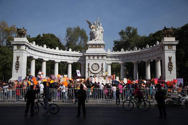 El Hemiciclo a Juárez será punto de reunión de la comunidad nicaragüense en México. Foto: Cuartoscuro