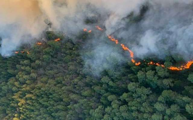 El incendio forestal en Las Vigas no había sido controlado en su totalidad. FOTO: ESPECIAL