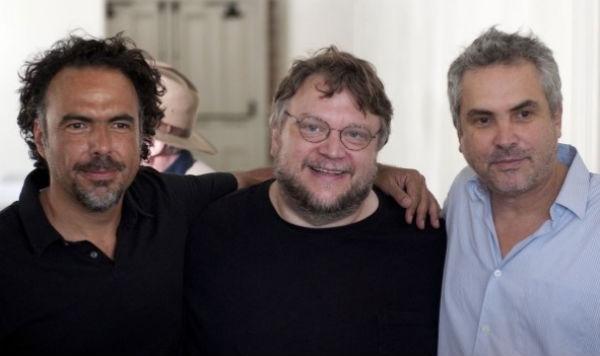 """Guillermo del Toro, Alfonso Cuarón y Alejandro González Iñárritu porque hacen un cine """"hermoso y perfecto"""". FOTO: ESPECIAL"""