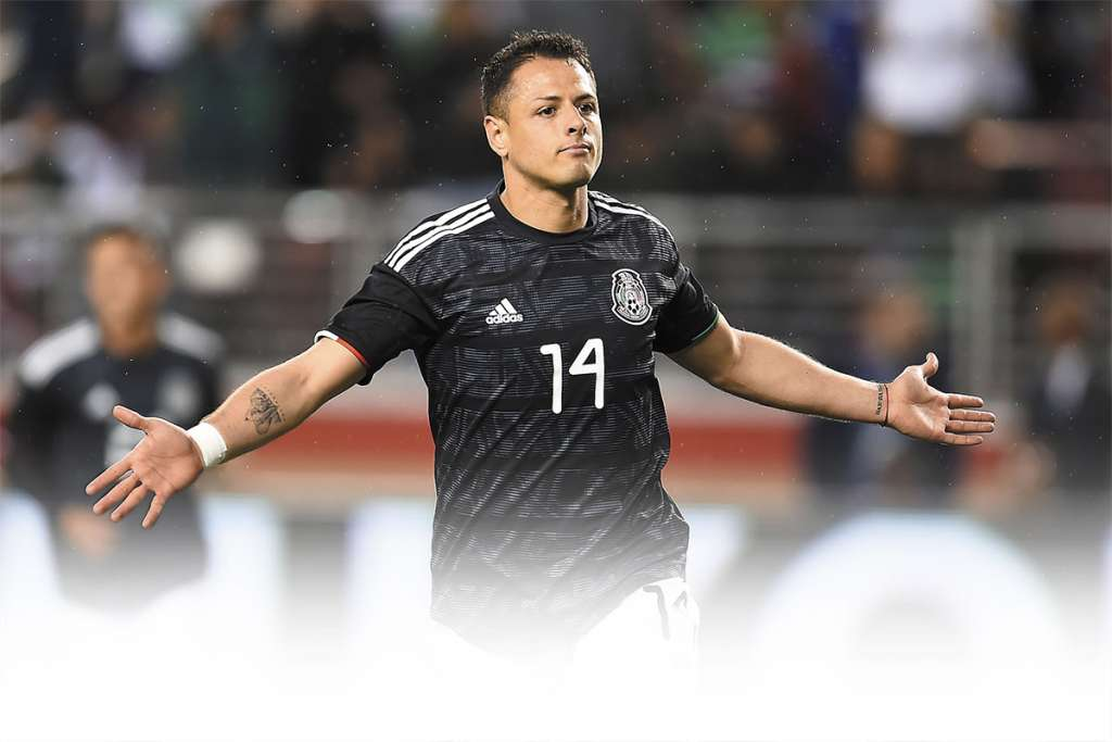 LÍDER. El Chicharito marcó ayer su gol 51 con la Selección, en el amistoso en Santa Clara. Foto: MEXSPORT