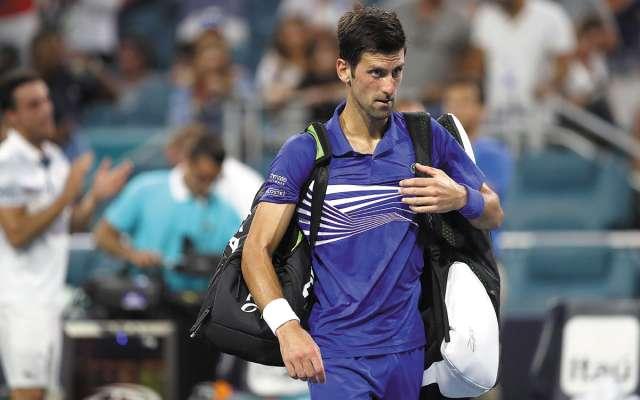 DESILUSIÓN. Novak Djokovic buscaba su triunfo 850 en el circuito ATP. Foto: AFP