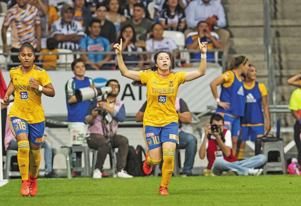 DIFERENCIA. Katty Martínez hizo el gol del triunfo para Tigres. Foto:MEXSPORT