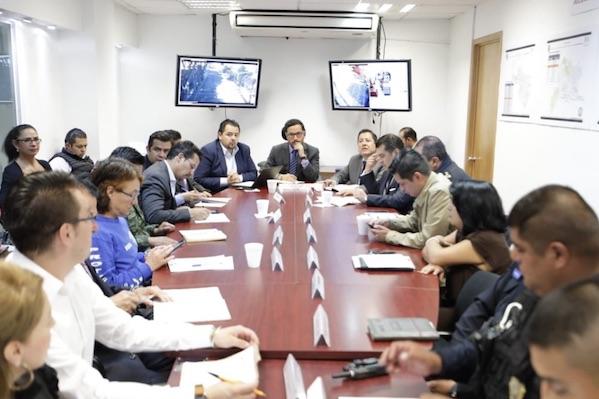Mesa de Coordinación Territorial para la  construcción de la paz presidida por el Alcalde Víctor Hugo Romo. Foto: @AlcaldíaMHmx