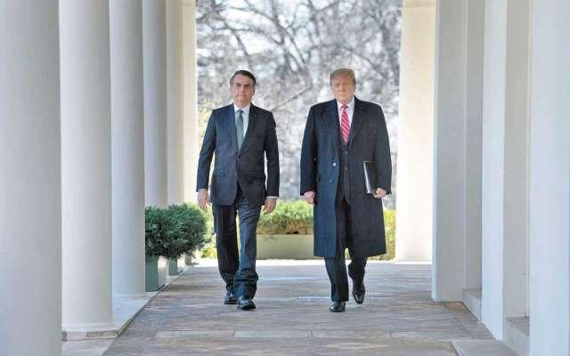 Jair Bolsonaro espera el apoyo de Trump para que Brasil ingrese en la OCDE.FOTO: AFP