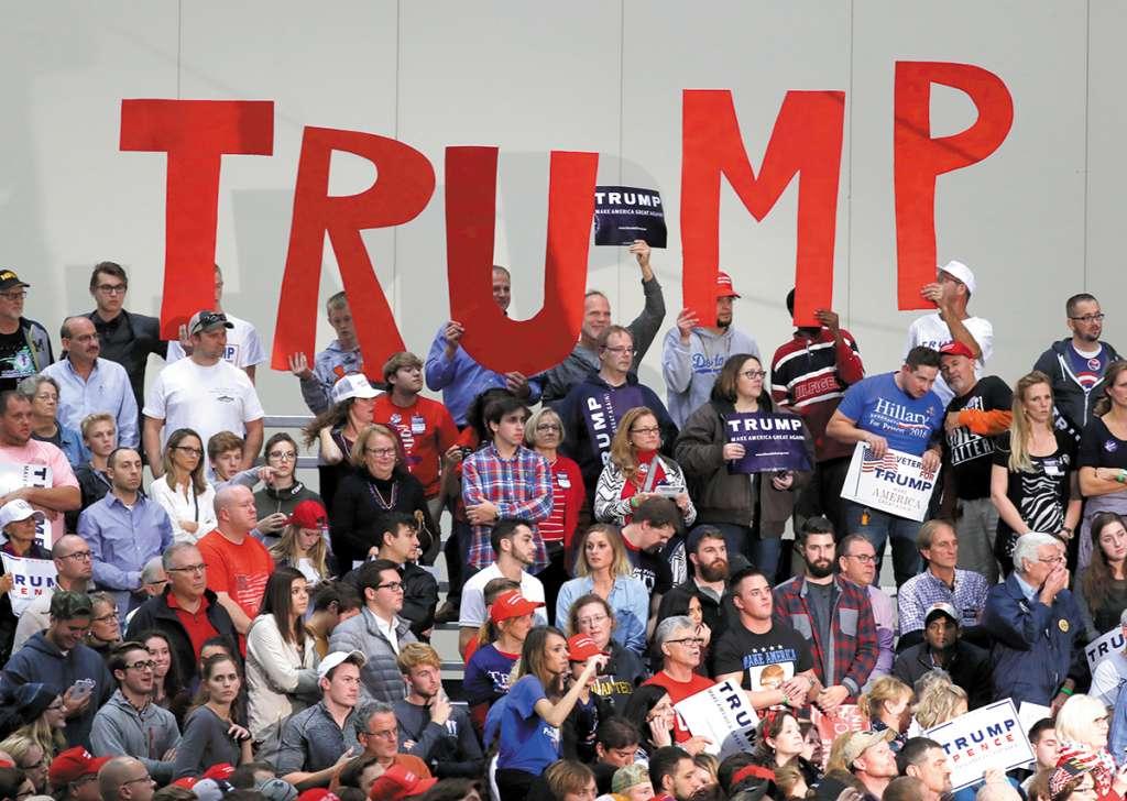 Los partidarios del Presidente se reunieron para expresar su apoyo en la reelección.FOTO: AP