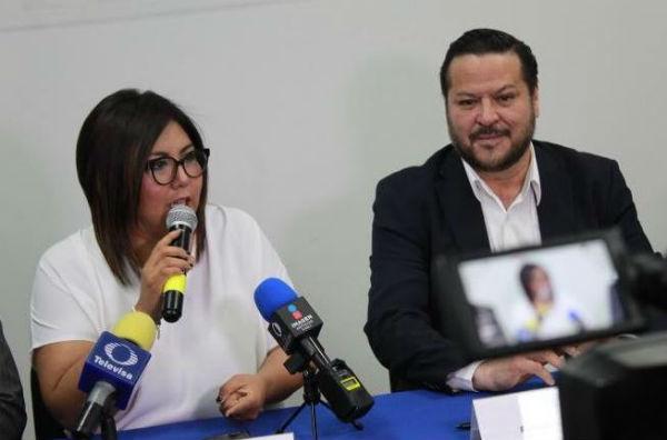 La dirigente estatal Genoveva Huerta Villegas reconoció que la excandidata independiente Ana Teresa Aranda Orozco sigue en la contienda. Foto: @GenovevaHuerta