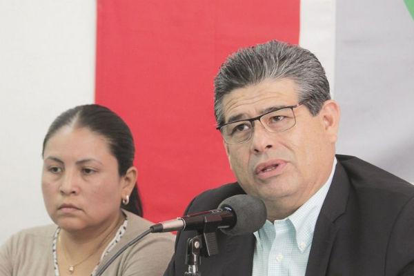 Javier Casique Zárate, minimizó los ataques internos del excandidato Enrique Doger. Foto: Especial
