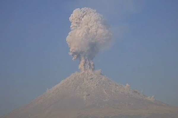 La alerta volcánica se mantiene enAmarillo Fase 2. Foto: Cenapred
